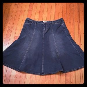COLDWATER CREEK Denim Panel Skirt Size XL EUC